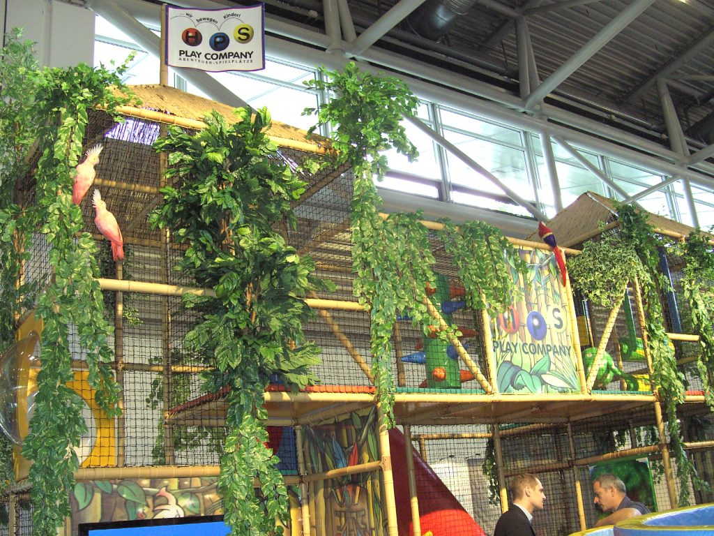 Bamboo play structure at EAS 2008 in Munich