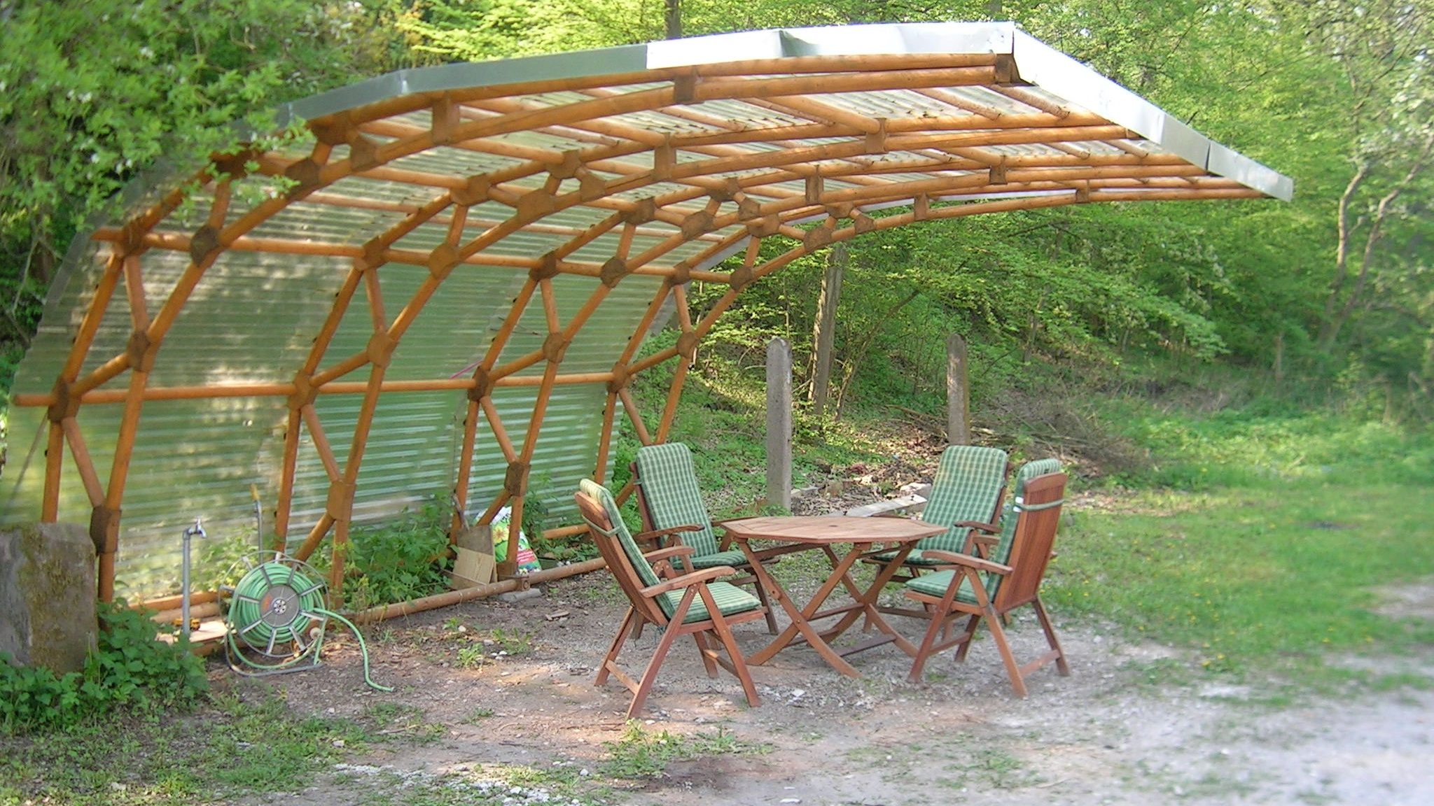 Carport as sitting area