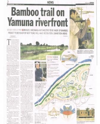 Bambutec Golden Jubilee Park Yamuna riverfront development press