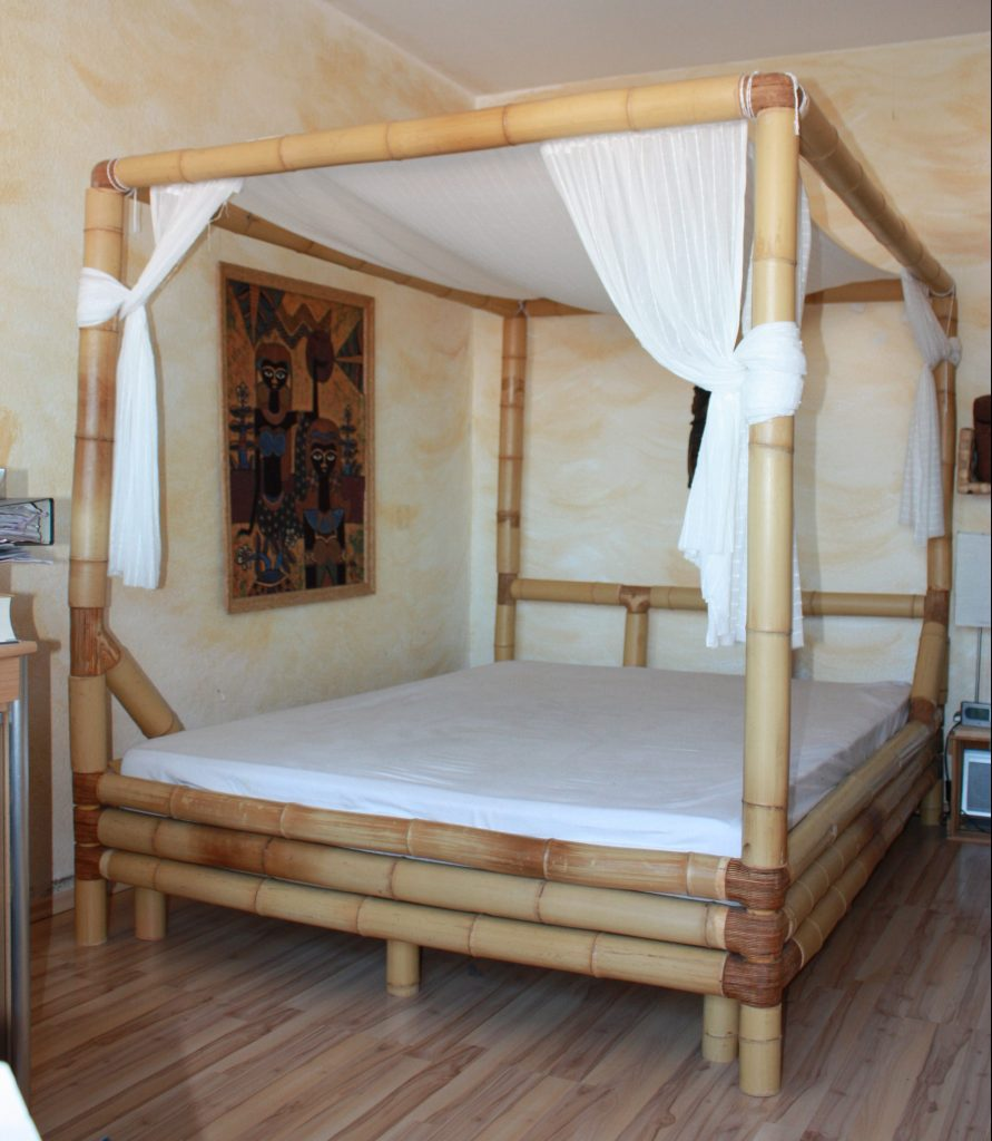 Bambutec bed made from real bamboo