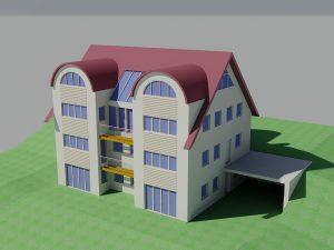Wohnhaus: 3D-Darstellung