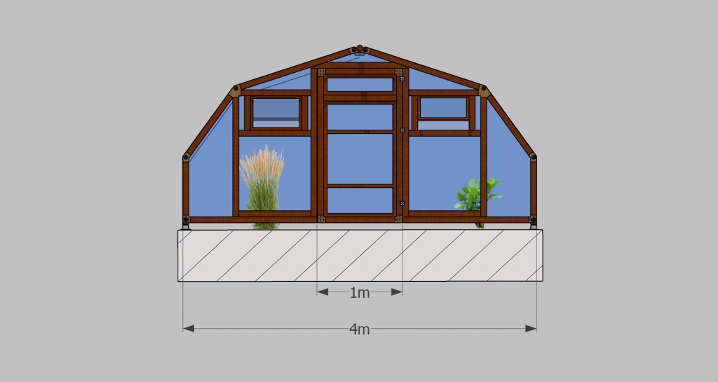 Modular greenhouse dimensions